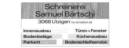 Schreinerei Samuel Bärtschi