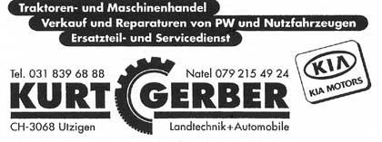 Kurt Gerber, Landtechnik und Automobile